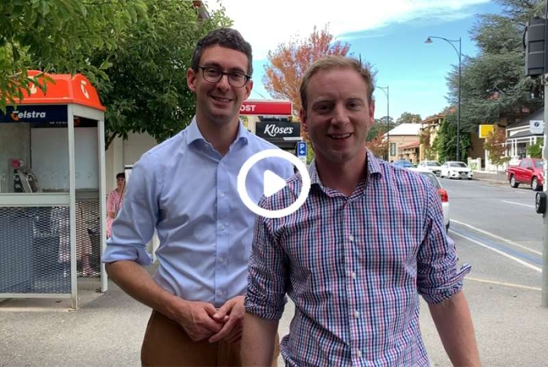 Visiting the electorate of Kavel with local member Dan Cregan
