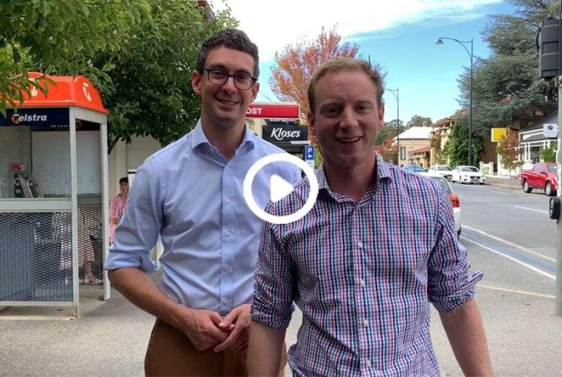 Visiting the electorate of Kavel with local member Dan Cregan