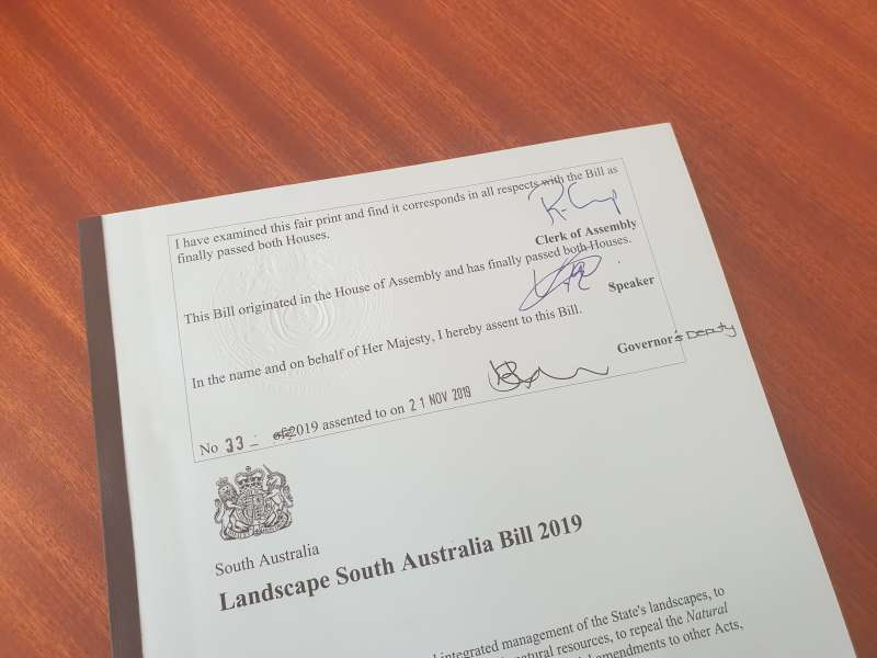 Landscape reform legislation passes Parliament